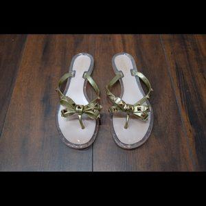 Valentino Gold PVC Rockstud Sandals 39